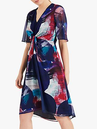 Phase Eight Serefina Abstract Print Dress, Navy/Multi