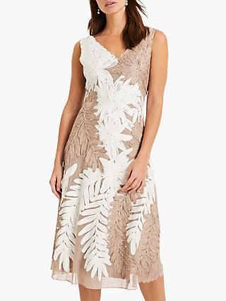 Phase Eight Denise Lace Dress, Ivory/Latte