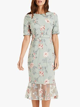 Phase Eight Alissa Floral Dress, Peppermint/Multi