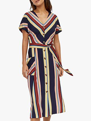 4c1cd950058 Warehouse Georgia Button Detail Midi Dress