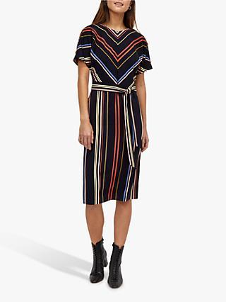 5f82d50ae94 Warehouse Georgia Tie Waist Stripe Midi Dress