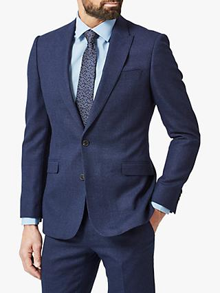 Richard James Mayfair Speckled Wool Tailored Suit Jacket, Blue