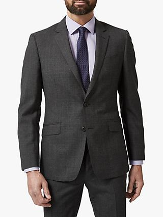 Richard James Mayfair Melange Flannel Wool Tailored Suit Jacket, Charcoal