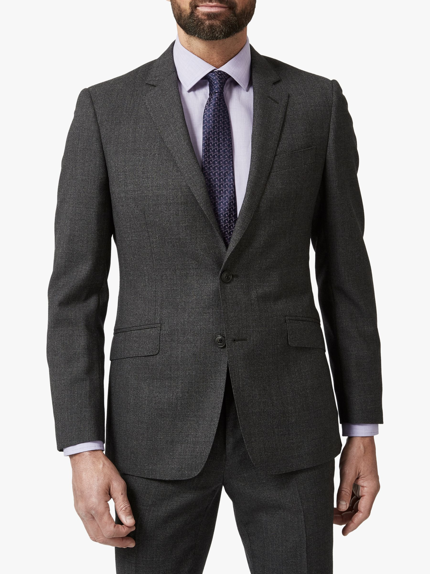 Richard James Mayfair Richard James Mayfair Melange Flannel Wool Tailored Suit Jacket, Charcoal