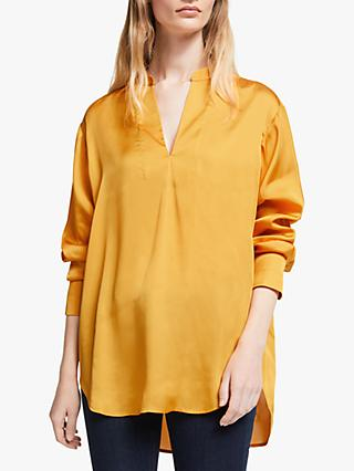 John Lewis & Partners Split Neck Top