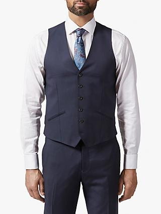 Richard James Mayfair Pick and Pick Waistcoat, Navy