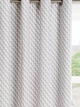 John Lewis & Partners Eaves Pair Lined Eyelet Curtains