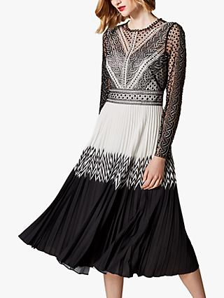 13a0df9982 Karen Millen Embroidered Lace Midi Dress