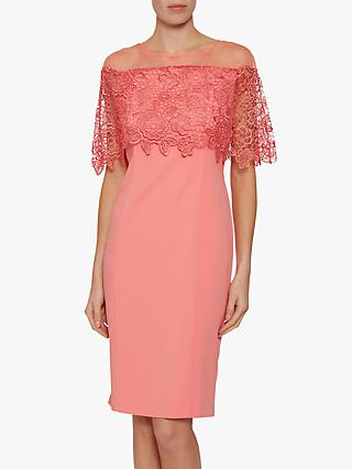Gina Bacconi Aretha Lace Bodice Dress