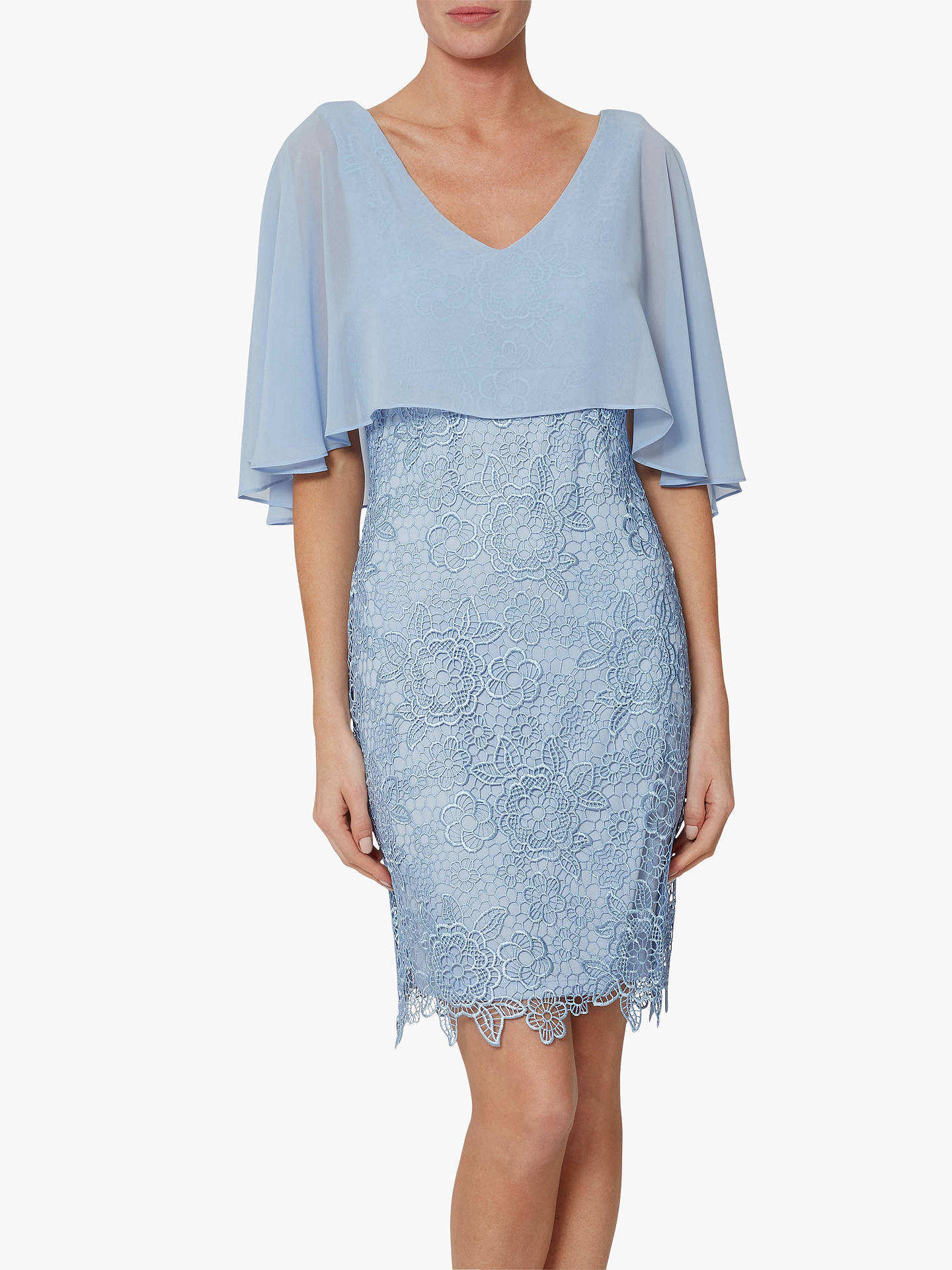 1d7e5b6e2 Buy Gina Bacconi Jonina Lace Dress, Nordic Blue, 22 Online at johnlewis.com  ...