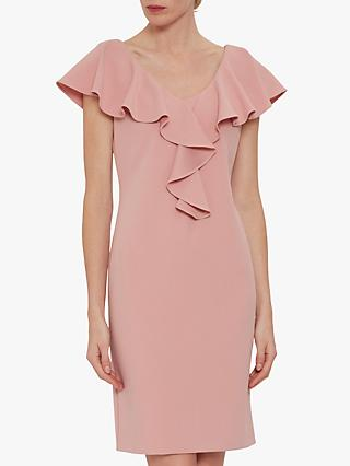 Gina Bacconi Marieta Stretch Crepe Dress