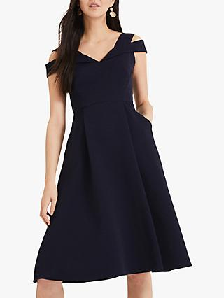 Phase Eight Ellis Flared Dress, Navy