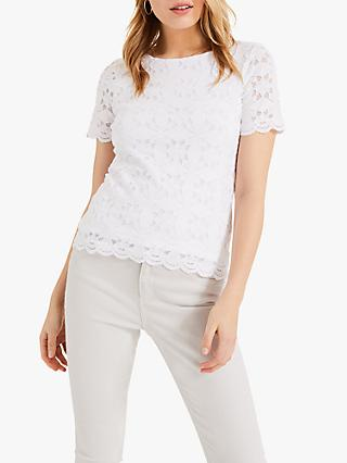 Phase Eight Louisa Lace Round Neck Top