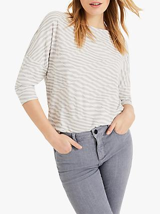 Phase Eight Tiffani Striped Top, Natural/Ivory
