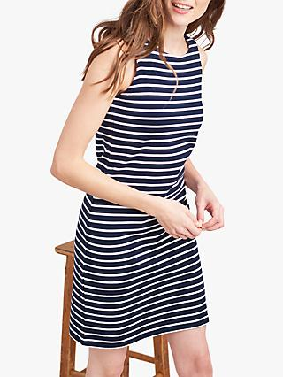 Joules Riva Stripe Dress, Navy/Cream