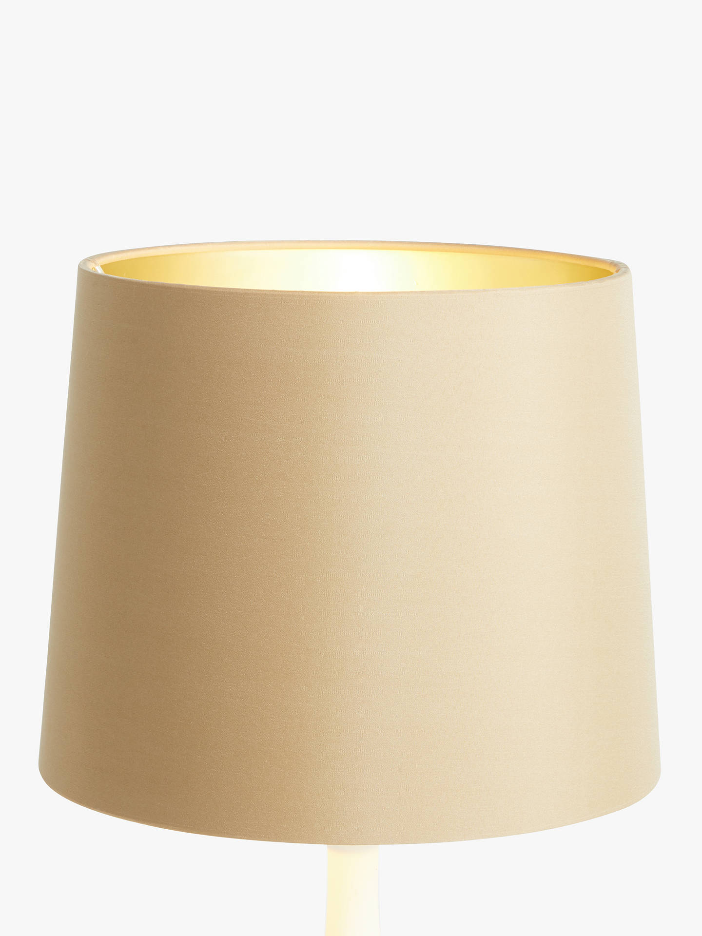 Buy John Lewis & Partners Cassie Tapered Lampshade, Biscotti/Champagne, Dia.25cm Online at johnlewis.com