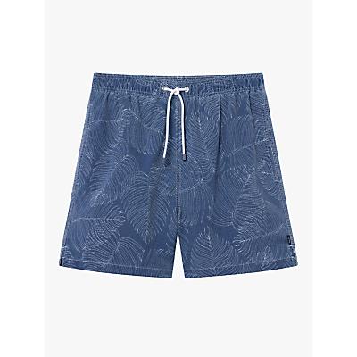 Hackett London Leaf Swim Shorts, Blue