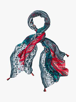White Stuff Margot Print Scarf, Coral