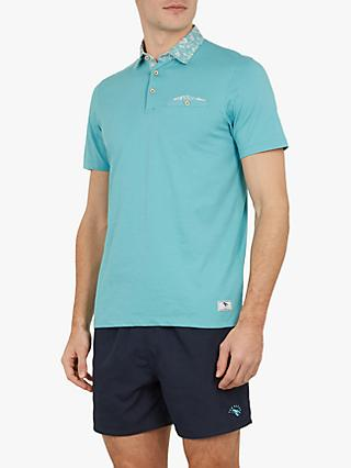 28cd68c8034475 Ted Baker Wale Printed Collar Polo Shirt