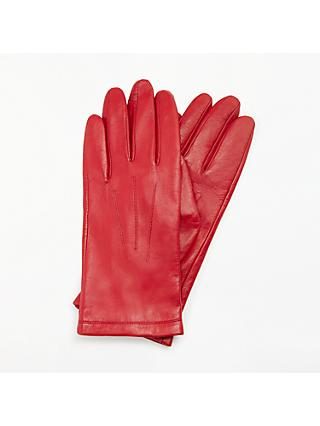 John Lewis & Partners Fleece Lined Leather Gloves