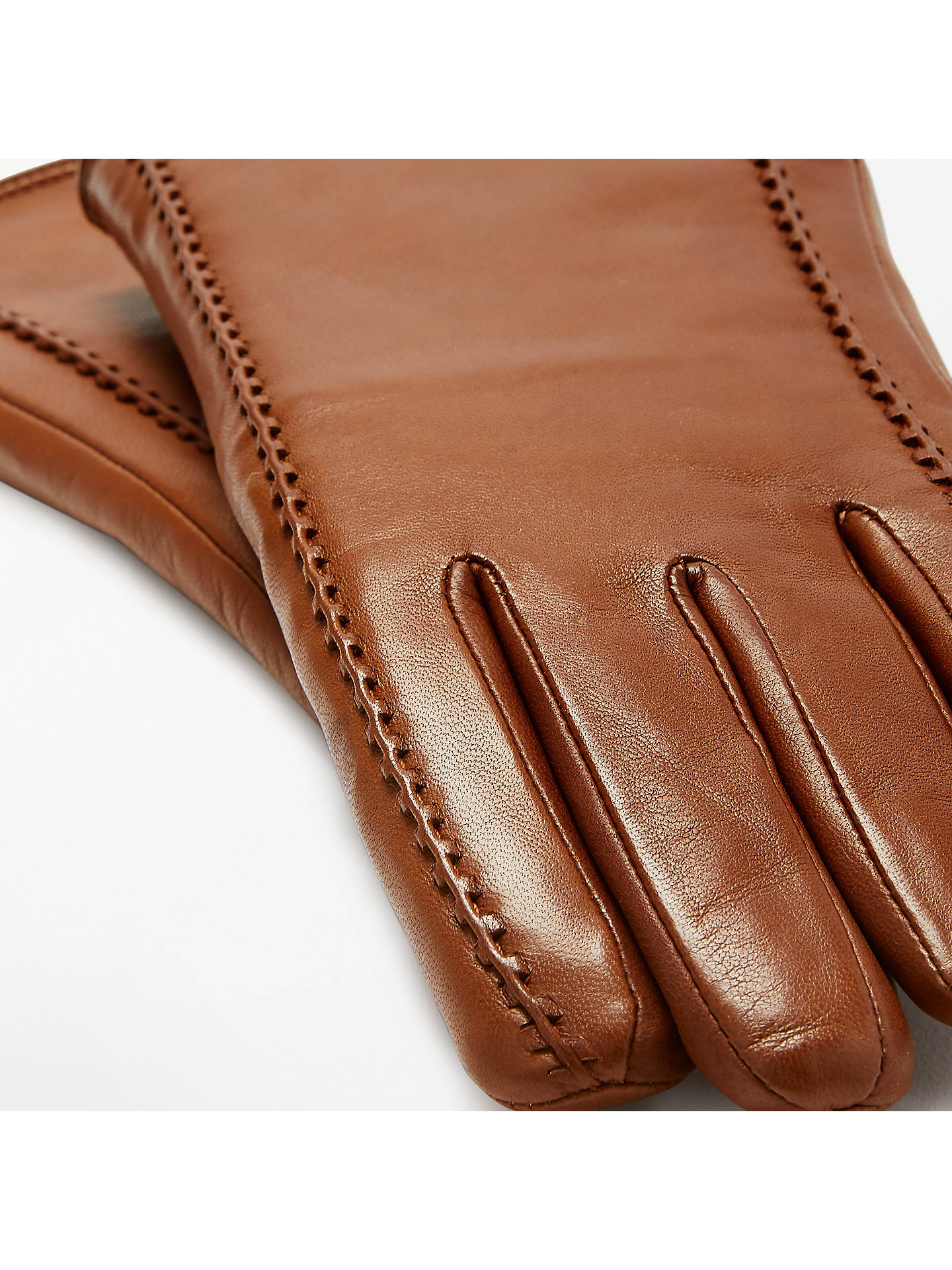 Buy Modern Rarity Shearling Lined Leather Gloves, Tan, S Online at johnlewis.com
