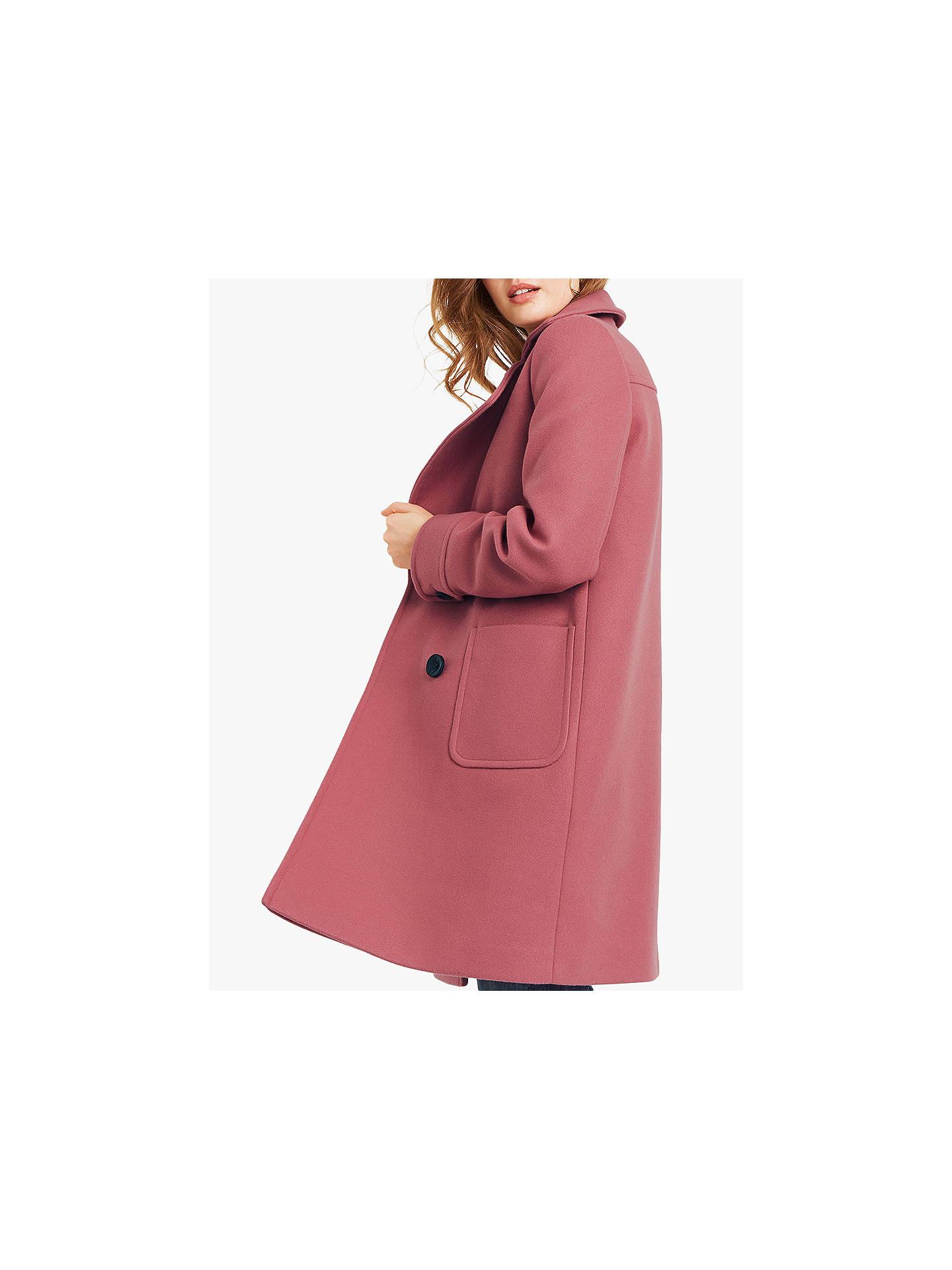 cf3ac813e996 ... Buy Oasis Charmaine Coat, Powder Pink, S Online at johnlewis.com ...