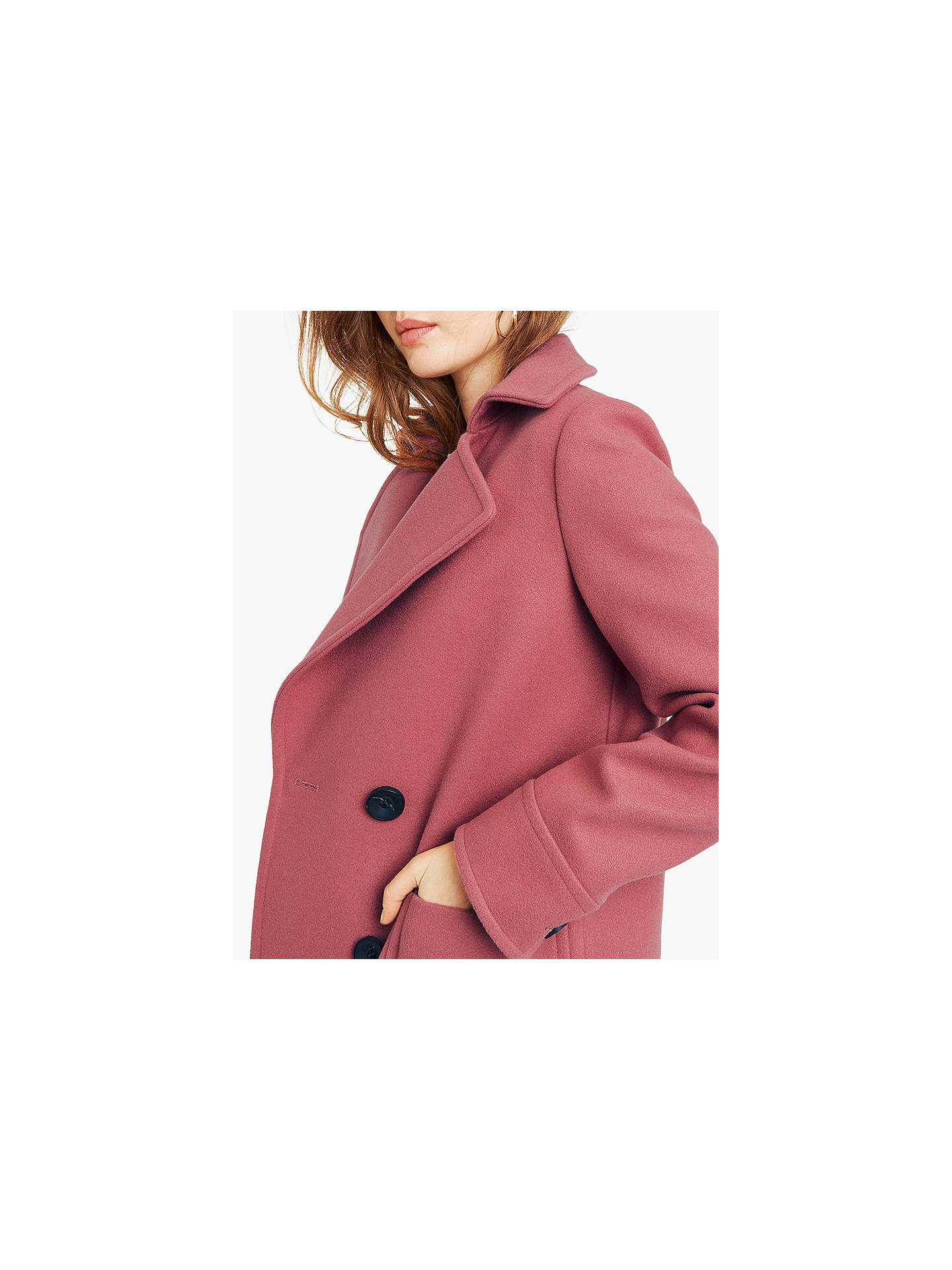 06636a199b3e ... Buy Oasis Charmaine Coat, Powder Pink, S Online at johnlewis.com