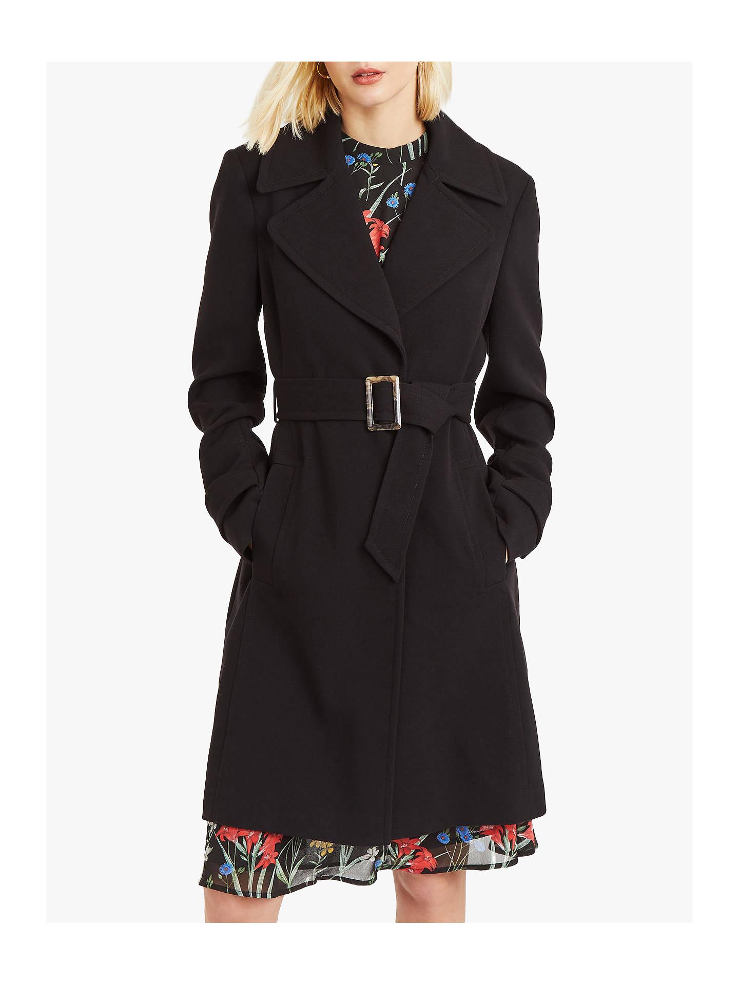 2c3be9b9da7f Buy Oasis Aspen Skater Coat, Black, S Online at johnlewis.com ...
