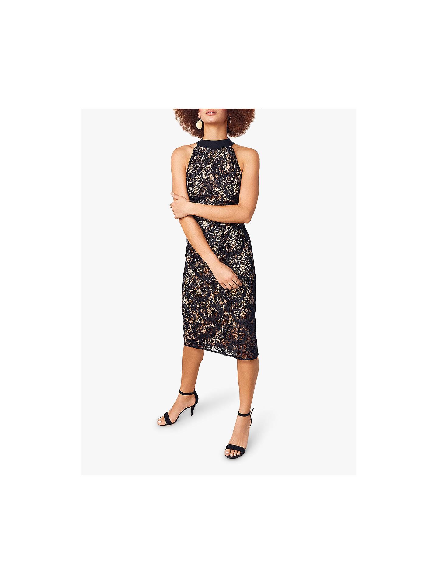 4852fcb2256c Buy Oasis Megan Lace Dress, Black, S Online at johnlewis.com ...