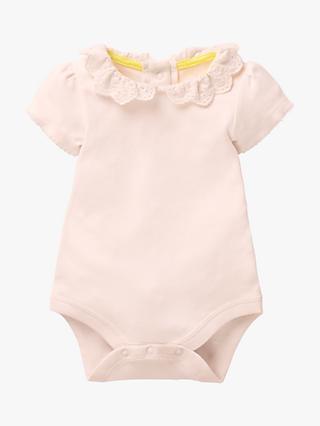 317120d40 Mini Boden Baby Detailed Collar Bodysuit, Parisian Pink