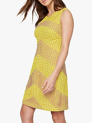 Damsel in a Dress Thekla Stripe Dress, Yellow/Nude