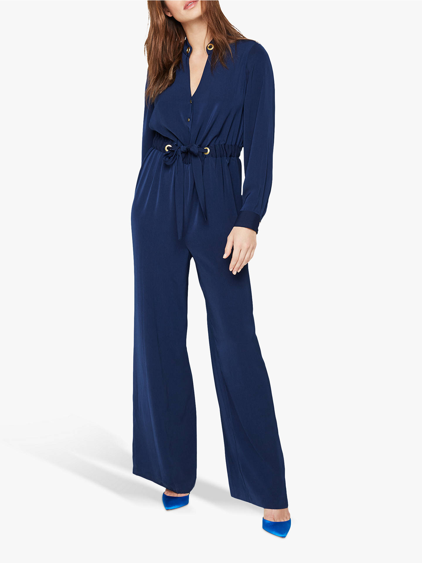 Buy Damsel in a Dress Hannah Jumpsuit, Navy, 8 Online at johnlewis.com