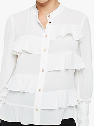 Damsel in a Dress Stansie Ruffle Blouse, Ivory