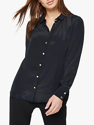 Damsel in a Dress Annah Metallic Button Blouse, Black