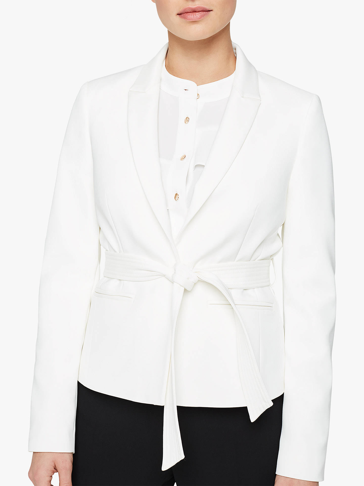 Buy Damsel in a Dress Tensie Tie Waist Jacket, Ivory, 10 Online at johnlewis.com