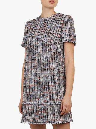 Ted Baker Yulited Tunic Dress, Blue/Multi