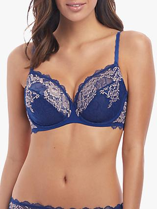 Wacoal Lace Perfection Underwired Bra, Sapphire Blue