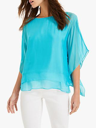86af9e3f9c9f7 Phase Eight Belle-Rose Silk Batwing Blouse