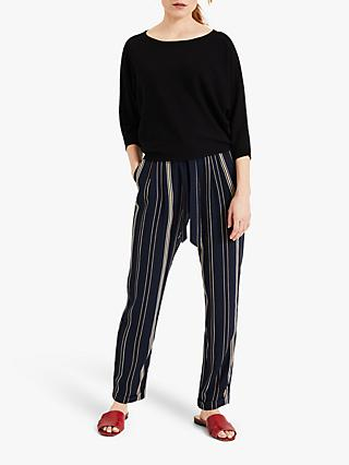 Phase Eight Keiko Stripe Trousers, Navy/Multi