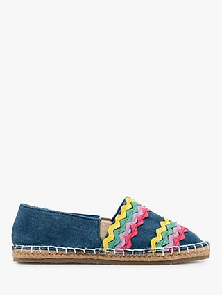Mini Boden Children's Rainbow Espadrilles, Denim