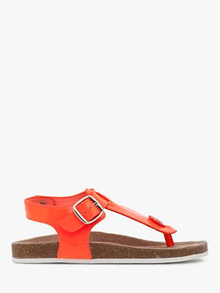 Mini Boden Children's Thong Sandals, Fluoro Coral