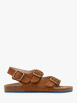 Boden Children's Suede Sandals, Tan