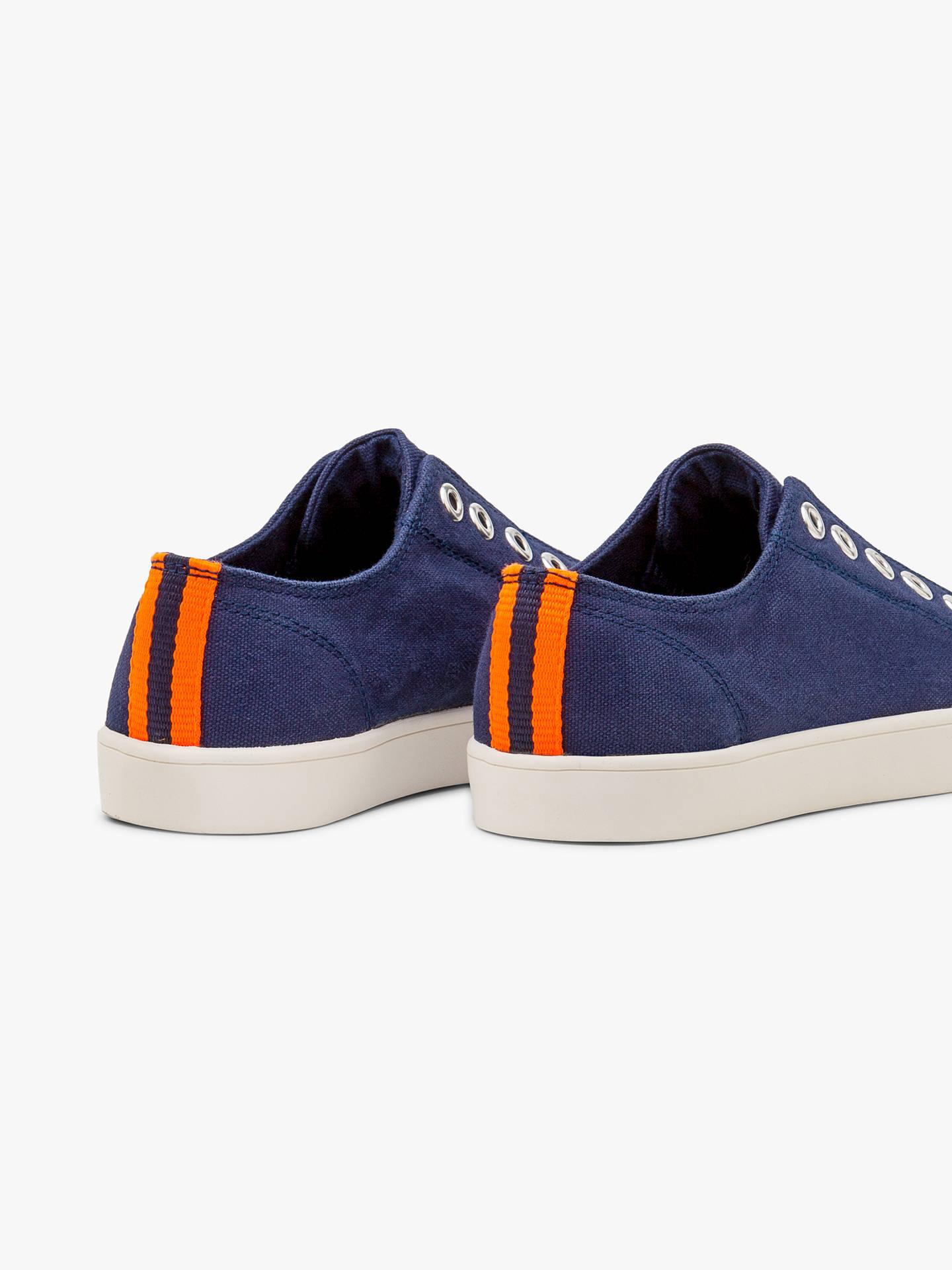 Mini Boden Children S Laceless Canvas Shoes College Blue