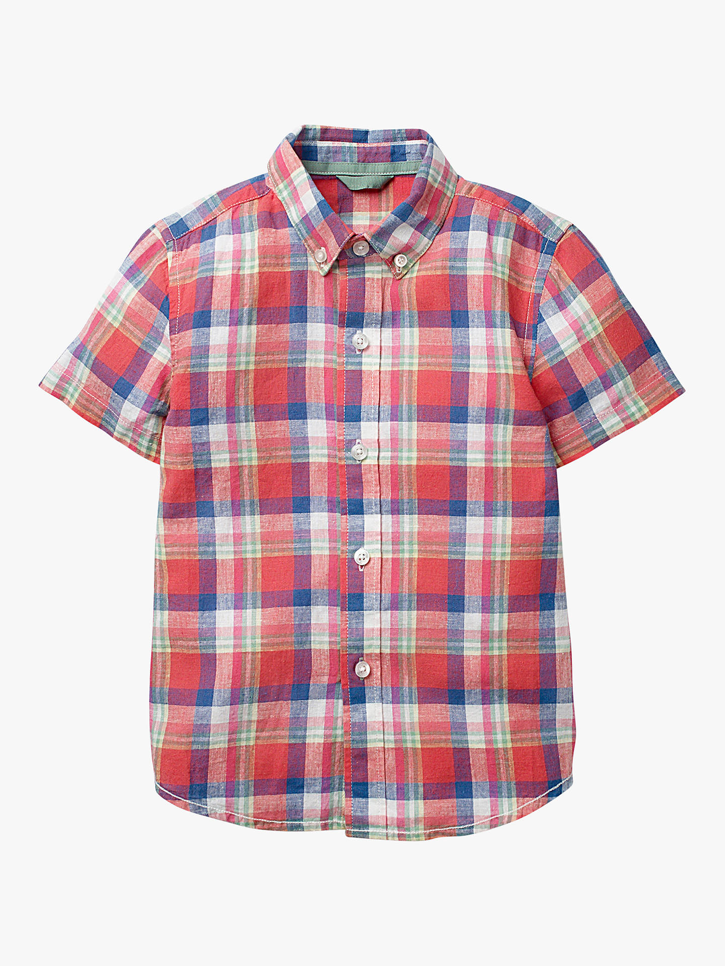 52e264ae1 Mini Boden Boys  Dyed Check Shirt