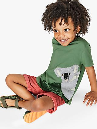 Mini Boden Boys' Koala Applique T-Shirt, Green