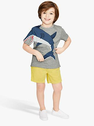 Mini Boden Boys' Shark Novelty T-Shirt, Grey