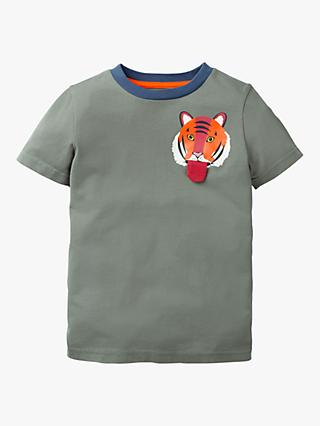 Mini Boden Boys' Tiger Pocket T-Shirt, Green