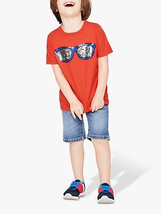 6a297db6ab7471 Mini Boden Boys  Colour Changing Sequin Sunglasses T-Shirt