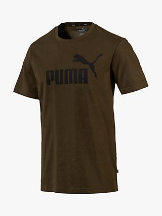 PUMA Essentials Logo Training Top, Khaki