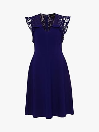 Phase Eight Macie Lace Dress, Royal Blue